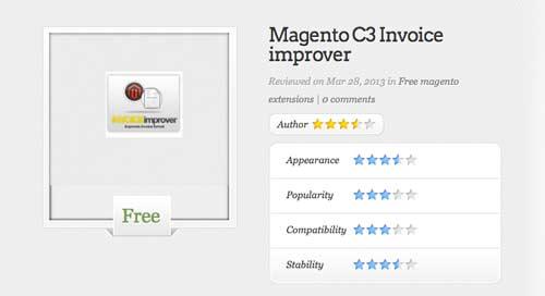 Magento Extension para tu tienda online: Magento C3 Invoice Improver