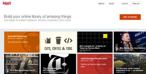 Recursos web para recopilar u organizar información: Kippt