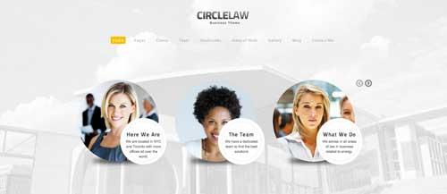 Temas WordPress para bufete de abogados: Circle Law