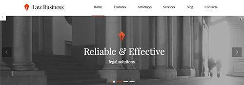 Temas WordPress para bufete de abogados: Law Business