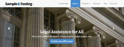 Temas WordPress para bufete de abogados: The Modern Law Firm