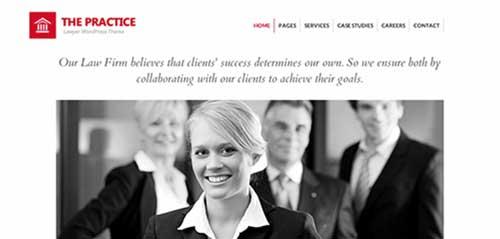 Temas WordPress para bufete de abogados: The practice