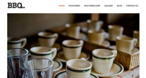 Temas WordPress para cafeterías: BBQ