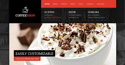 Temas WordPress para cafeterías: Coffee Shop