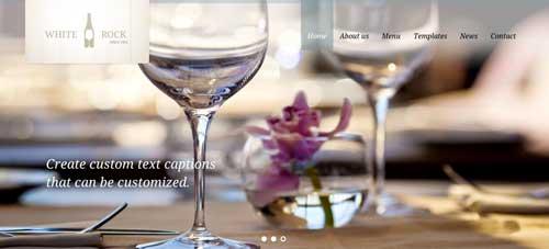 Temas WordPress para cafeterías: White Rock
