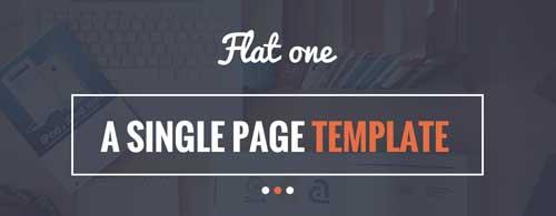 Temas WordPress para páginas de destino: Flat One