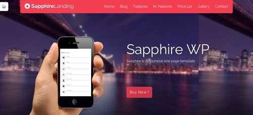 Temas WordPress para páginas de destino: Saphire