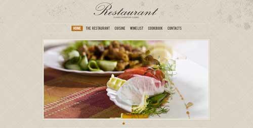 Temas WordPress con buen uso del JQuery Slider: Cafe and Restaurant WordPress Theme #33392