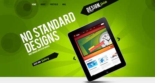 Temas WordPress con buen uso del JQuery Slider: Web Design WordPress Theme #33394