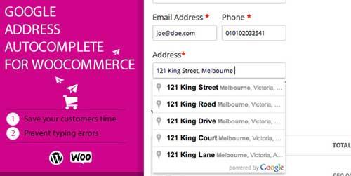 WooCommerce plugin para extender funciones de tu tienda: Google Address Autocomplete