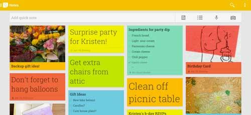 Aplicaciones moviles para tomar notas: Google Keep