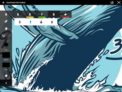 Aplicaciones para iPad para ilustración digital: Adobe Ideas