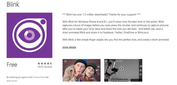 Aplicaciones para Windows Phone 8: Blink
