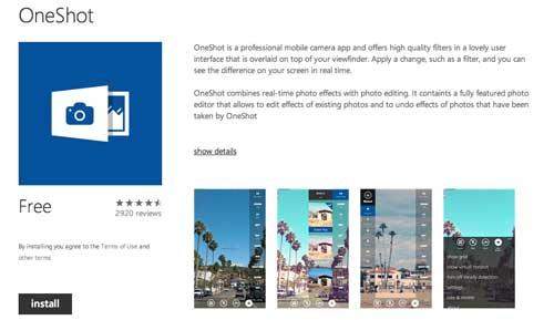 Aplicaciones para Windows Phone 8: OneShot