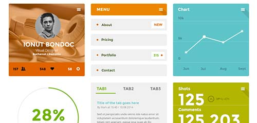 Archivos PSD gratuitos: Coloristico Flat UI Kit