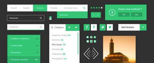 Archivos PSD gratuitos: Free Flat UI Kit