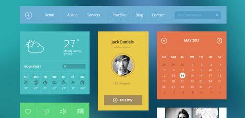 Archivos PSD gratuitos: Modern Touch UI Kit