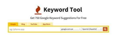 Aplicaciones para mejorar productividad laboral: Keyword Tool