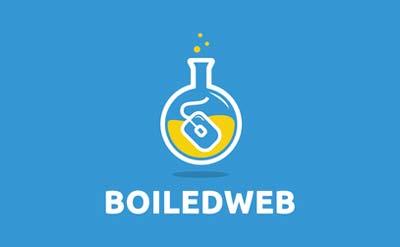Diseño de logos con estilo flat: Boiled Web