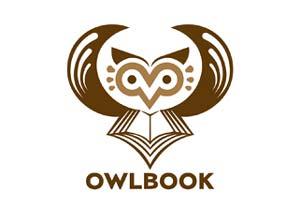 Diseño de logos con síntesis de aves:  Owlbook