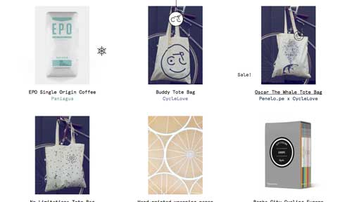 Ejemplos de paginas web que usan espacios en blanco: Cycle Lux