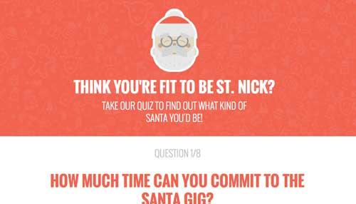 Ejemplos de paginas web que usan espacios en blanco: Who's your Santa?