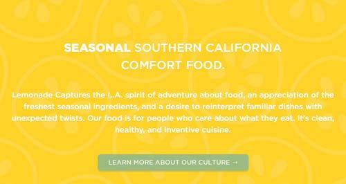 Ejemplos de pagina web con uso de patrones de diseño: Lemonade