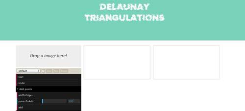 Generador de fondo Low Poly: Delaunay Triangulations