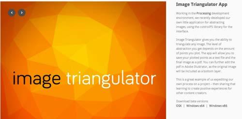 Generador de fondo Low Poly: Image Triangulator