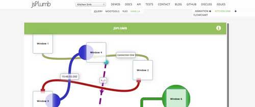 Librería de JavaScript plugin para visualizar diagramas: JSPlumb