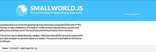 Librería de JavaScript plugin para visualizar diagramas: Smallworld.js