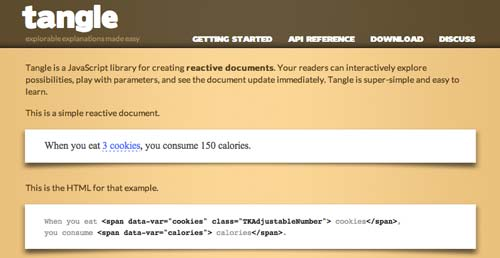 Librería de JavaScript plugin para visualizar diagramas: Tangle
