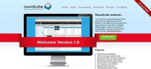 Lista de webmail cliente: Roundcube