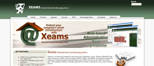 Lista de webmail cliente: Xeams