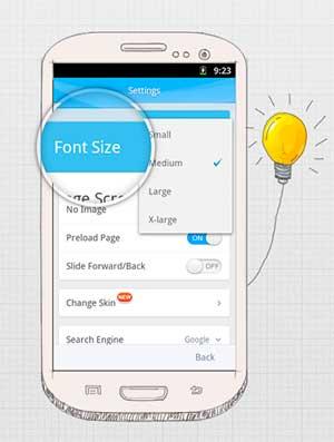 Navegadores web para Android OS: One Browser