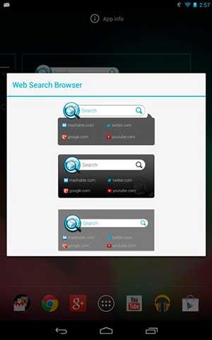 Navegadores web para Android OS: Web Search Browser