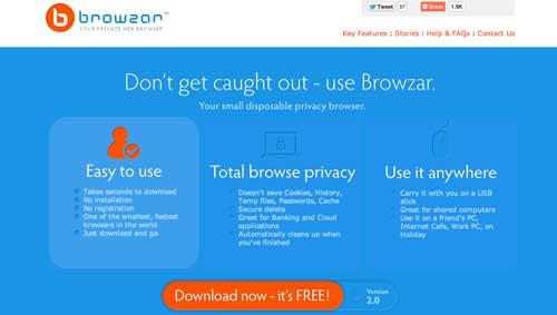 Navegadores web opcionales a Explorer: Browzar