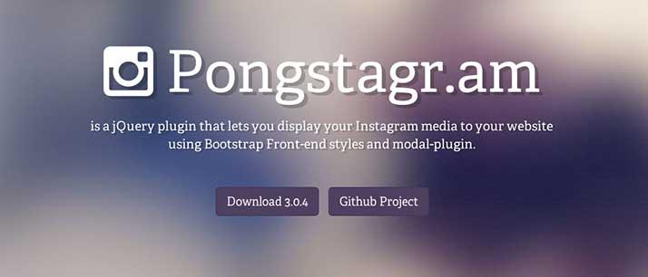 Plugin JQuery para Instagram: Pongstagr.am