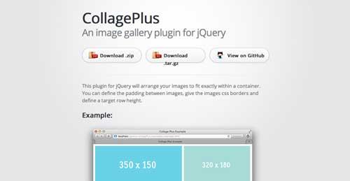 Plugin JQuery para sistemas de cuadrículas: CollagePlus