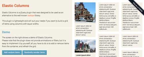 Plugin JQuery para sistemas de cuadrículas: Elastic Columns