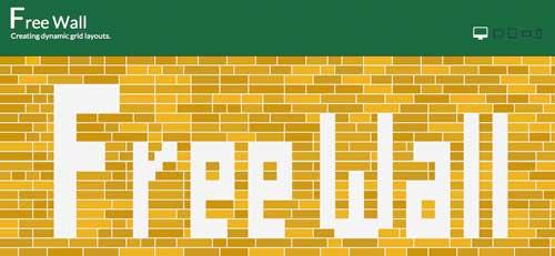 Plugin JQuery para sistemas de cuadrículas: FreeWall