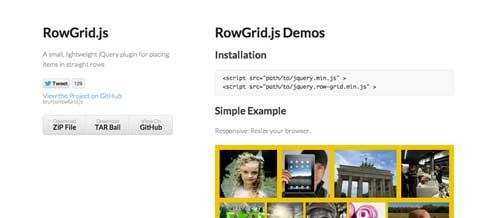 Plugin JQuery para sistemas de cuadrículas: RowGrid.js