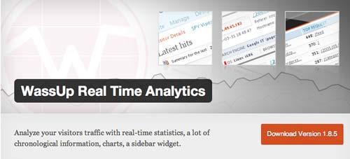 Plugin WordPress para verificar estadísticas de sitio: WassUp Real Time Analytics