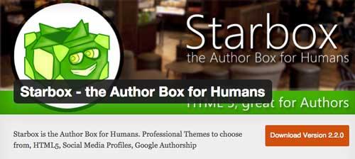 Plugin WordPress para realizar cambios a tu página de autor: Starbox