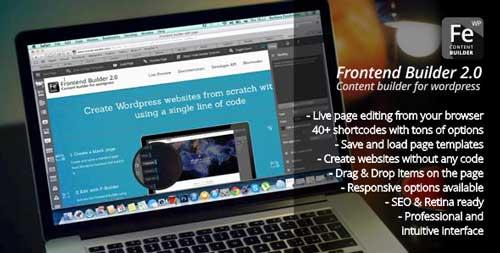 Plugin WordPress para implementar efecto parallax: Frontend Builder