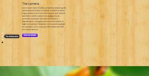 Plugin WordPress para implementar efecto parallax: Fullscreen Parallax