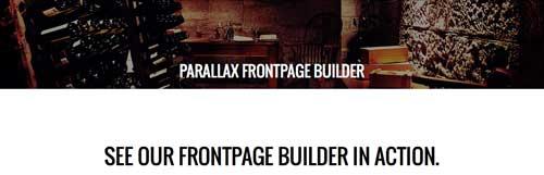 Plugin WordPress para implementar efecto parallax: Parallax Frontopage Builder