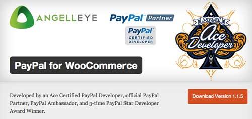 Plugin WordPress para PayPal:  PayPal for WooCommerce