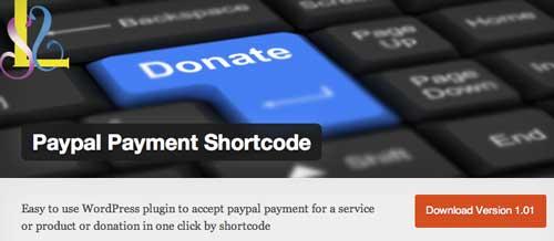 Plugin WordPress para PayPal: PayPal Payment Shortcode