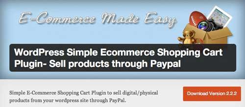 Plugin WordPress para PayPal: Simple ECommerce Shopping Cart
